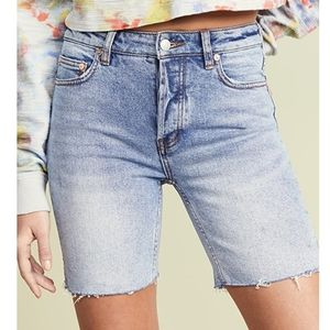Free People Avery Bermuda Shorts in Pacific Blue